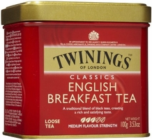 Twinings-English Breakfast Tea, Loose Tea, 3.53oz/100g (6 Pack)