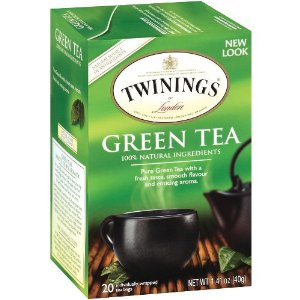 Twinings-Green Tea 20 ct box, 1.41oz/40g (6 Pack)