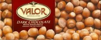 "Valor ""Chocolat Pur Aux Noisettes"" Dark Chocolate with Hazelnuts, 250g/8.75oz. (10 Pack)"