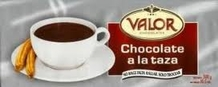 "Valor Chocolate - ""Chocolate A La Taza Bar"" Spanish Drinking Chocolate, 300g/10.5oz (20 Pack)."
