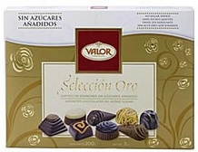 Valor Chocolate - Gold Selection No Added Sugar Chocolate Bonbons Gift Box , 200g/7.1oz.