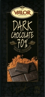 Valor Spanish Chocolate - Dark Chocolate 70% Cocoa, 100g/3.5oz. (Single)