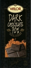 Valor Spanish Chocolate - Dark Chocolate 70% Cocoa, 100g/3.5oz.(5 Pack)