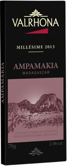 "Valrhona Chocolate - ""2013"" Estate Grown Dark Chocolate, "" Ampamakia, Millot Plantation - Madagascar"", 64% Cocoa, 75g/2.6oz.  (Single)"