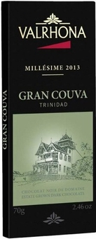 "Valrhona Chocolate - ""2013"" Estate Grown Dark Chocolate, ""Gran Couva Plantation"", 64% Cocoa, 75g/2.6oz. (5 Pack)"