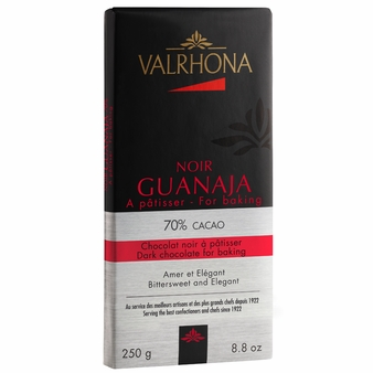 "Valrhona Chocolate - ""Guanaja Baking Bar"" 70%Cocoa, 250g/8.8oz.(Single)"