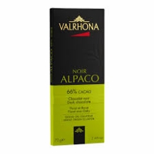 "Valrhona French Chocolate - Dark Chocolate ""Alpaco"" 66% Cocoa Bar, 70g/2.46oz. (5 Pack)"