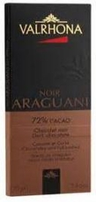 Valrhona French Chocolate - Dark Chocolate Noir Araguani 72% Cocoa Bar, 70g/2.46oz.