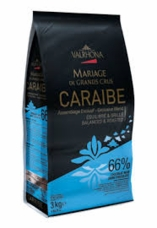 "Valrhona French Chocolate - ""Les Feves"" Grand Cru Caraibe 66% Cocoa, 3kg/6.6lbs."