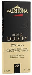 Valrhona French Chocolate -The Blond Dulcey Chocolate Blond Dulcey 32% Cocoa Bar, 70g/2.46oz.