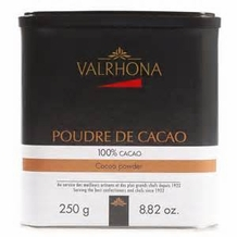 "Valrhona French Chocolate - Unsweetened ""Dutch Processed"" 100% Cocoa, 250g/8.82oz."