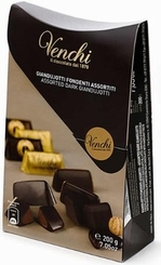"Venchi Chocolate ""Assorted Dark Giandujotti"" - Extra Dark & Extra Milk Chocolate with Hazelnut Paste - 200g/7.05oz"