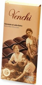 "Venchi Chocolate - ""Cioccolato al Latte Extra"" Extra Milk Chocolate Bar, 45g/1.58oz. (Single)"