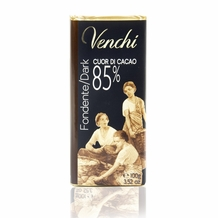 "Venchi Italian Chocolate - ""Cuor di Cacao"" Extra Bittersweet Bar, 85% Cocoa, 100g/3.5oz (5 Pack)."