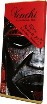 Venchi Italian Chocolate - Dark Chocolate with Premium South and Central American 85% Cocoa, 70g/2.46oz. (22 Pack)