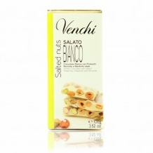 "Venchi Italian Chocolate - ""Chocolight Bianco Salted Nuts"" No Added Sugar White Chocolate with Salted Nuts with Sweetener 100g/3.52oz. (Single)"