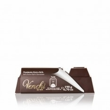 Venchi Italian Chocolate - Pure Dark Chocolate Block, 56% Cocoa, 200g/7.05oz. (Single)