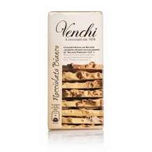 Venchi Italian Chocolate - Pure White Chocolate with Piedmont Hazelnuts I.G.P., 31.3% Cocoa, 100g/3.5oz. (Single)
