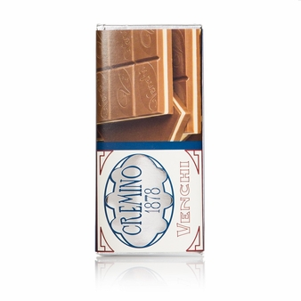 Venchi Italian Chocolate - Milk and White Chocolate with Hazelnuts and Almonds paste, 100g/3.5oz. (Single)