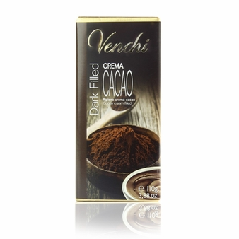 "Venchi Italian Chocolate - Dark Filled ""Crema Cacao"" 75% Cocoa, 110g/3.88oz. (5 Pack)"