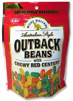 Wiley Wallaby Australian Style Outback Beans - Chewy Red Centers, 10oz/284g (Single)