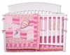 Pink Black Crib Bedding