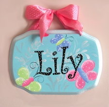 Butterfly Personalized Name Plaque
