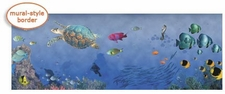 Kids WIDE Tropical Fish Wallpaper Border