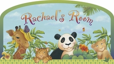 Nursery Wall Decals/Stickers - Personalized Jungle Animal Window