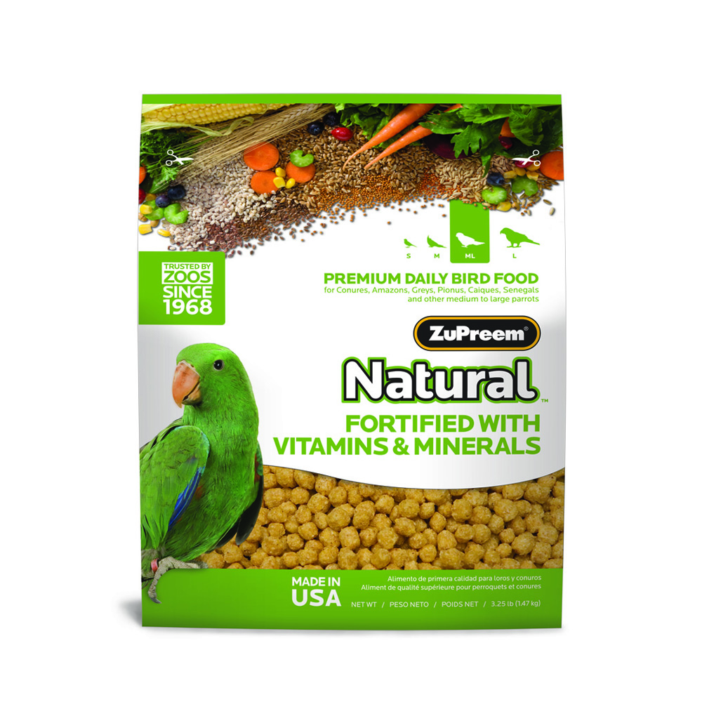 ZuPreem Natural Maintenance Medium/Large Parrot