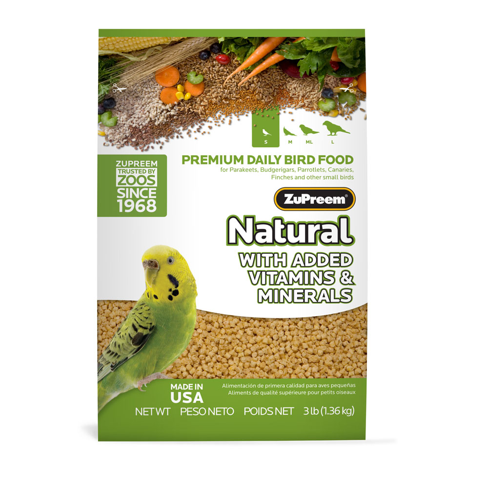 ZuPreem Natural Maintenance Parakeet Small Bird Pellets