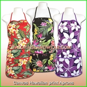 Canvas Hawaiian Print  Apron