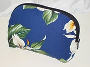 Hawaiian Floral Print Cosmetic Pouch