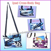 Hawaiian Print Cross-Body Ipad Bag