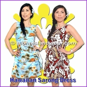 Hawaiian Sarong Dress R