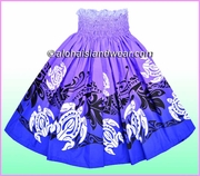 Hula Pa'u Skirt - 2521Purple/Blue