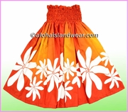 Hula Pa'u Skirt - 2522Orange