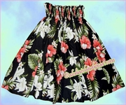 Hula pa'u Skirt - 466Black