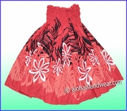 Hula Pa'u Skirt - 2517Red