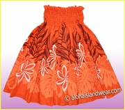 Hula Pa'u Skirt - Orange