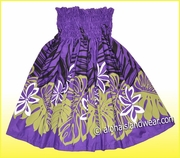 Hula Pa'u Skirt - Purple