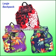 Large Size Hawaiian Print Backpack