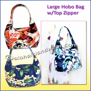 Large Hobo Bag w/Top Zipper
