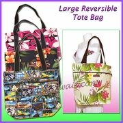 Large reversible Hawaiian Print Tote Bag