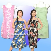 Short & Tea length Hawaiian Dresses