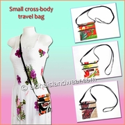 Small Hawaiian Print Cross-body Travel Bag