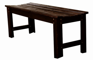 4 Ft. Backless Adirondack Garden Bench