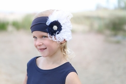 A Little Posh Nantucket Peacock Feather Headband<br>One Size