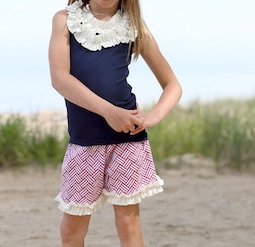A Little Posh Nantucket Pink Ruffle Shorts