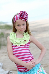 A Little Posh Sweet Stripe Ruffle Tank Top